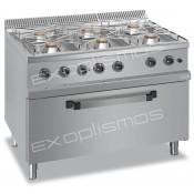 Επαγγελματικές Κουζίνες Αερίου